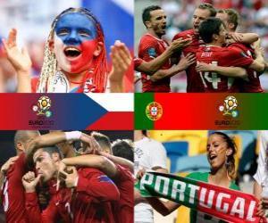 puzzel Tsjechische Republiek - Portugal, kwartfinales, Euro 2012