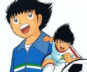 puzzel Tsubasa is het trainen heel hard om zijn droom te vervullen