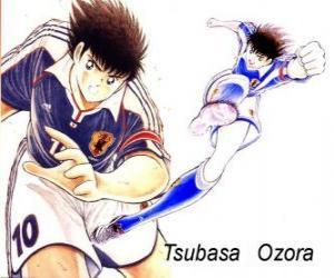 puzzel Tsubasa Ozora is Captain Tsubasa, de aanvoerder van het Japanse voetbalteam