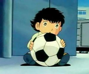 puzzel Tsubasa Ozora, Oliver Hutton, een Japans kind dat is een groot voetbalfan