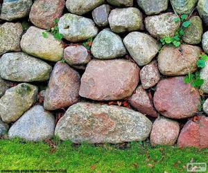 puzzel Tuin stenen muur