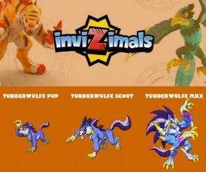 puzzel Tunderwulfe in drie fasen Tunderwulfe Pup, Tunderwulfe Scott en Tunderwulfe Max, Invizimals