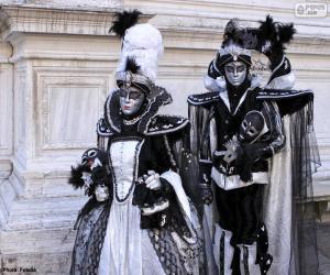puzzel Twee elegante kostuums