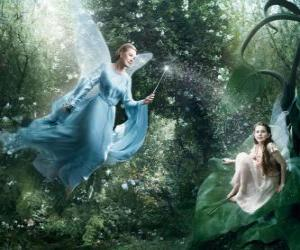 puzzel Twee feeën in het bos