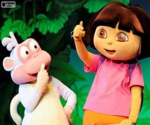 puzzel Twee goede vrienden, Dora en Boots