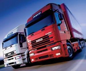 puzzel Twee Iveco trucks