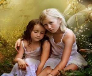 puzzel Twee jonge elfen