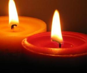 puzzel Twee kaarsen