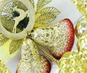 puzzel Twee kerst klokken