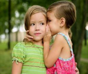 puzzel Twee meisjes maken van vertrouwelijke