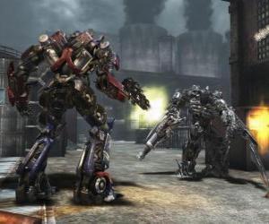 puzzel Twee robots Transformers