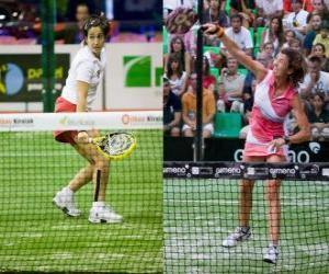 puzzel Twee spelers Paddle tennis