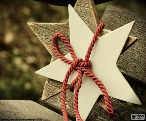 puzzel Twee sterren van hout