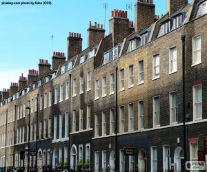 puzzel Typische huizen van Londen