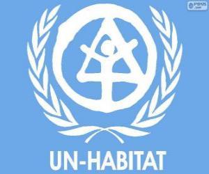 puzzel UN-HABITAT logo, United Nations Human Settlements Programme