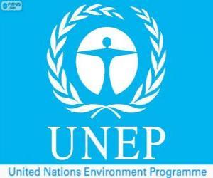 puzzel UNEP logo, Milieuprogramma van de Verenigde Naties