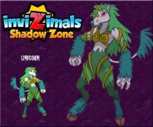 puzzel Unicorn. Invizimals Shadow Zone. Schuwe dieren, eenhoorns zijn zeer moeilijk te vinden