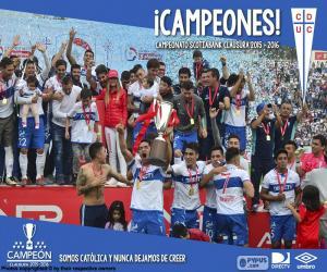 puzzel Universidad Católica, kampioen 2016