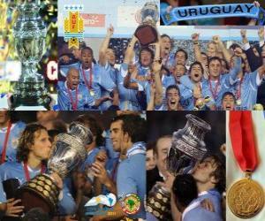 puzzel Uruguay Champion Copa America 2011