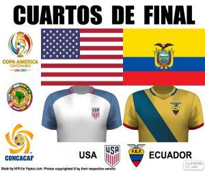 puzzel USA - ECU, Copa America 2016