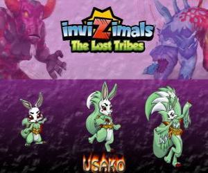 puzzel Usako, laatste evolutie. Invizimals The Lost Tribes. De mysterieuze danseres is een prachtige spy invizimal