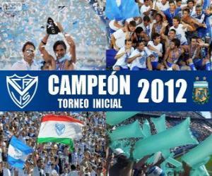 puzzel Vélez Sarsfield, kampioen van het Torneo Inicial 2012, Argentinië