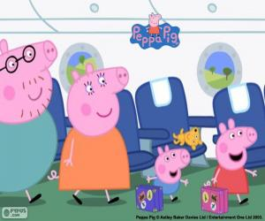 puzzel Vakantie familie Peppa Pig
