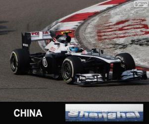 puzzel Valtteri Bottas - Williams - Shanghai 2013