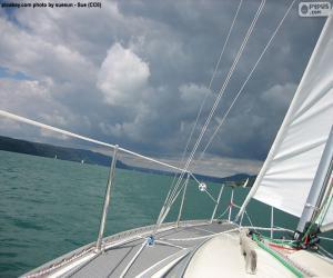 puzzel Varen op een zeilboot