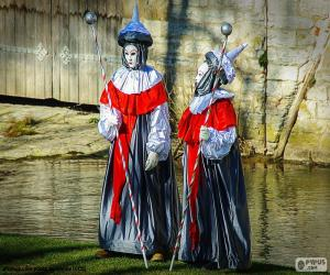 puzzel Venetië carnaval