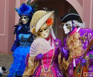 puzzel Venetiaanse klassieke kostuum