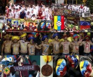 puzzel Venezuela, 4de geklasseerd Copa America 2011