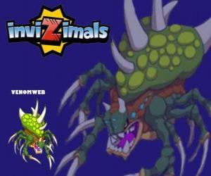 puzzel Venomweb. Invizimals. De Venomweb is zeer zeldzaam om te zien