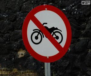 puzzel Verboden motorfietsen signaal