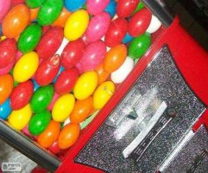puzzel Verkoopautomaat kauwgom bal,  kauwgombal