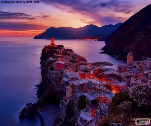 puzzel Vernazza, Italië