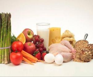 puzzel Verscheidenheid van levensmiddelen