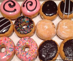 puzzel Verschillende donuts