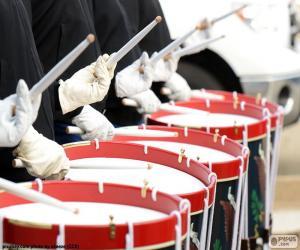 puzzel Verschillende drums