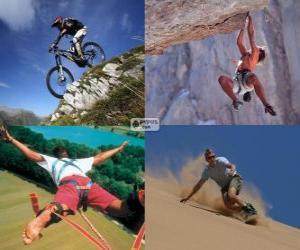 puzzel Verschillende extreme sporten en avontuur
