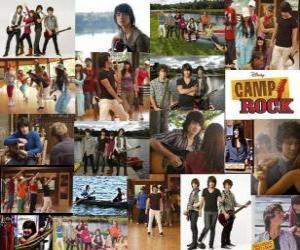 puzzel Verschillende foto's van Camp Rock
