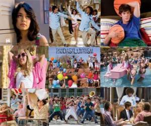 puzzel Verschillende foto's van High School Musical 2