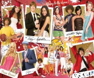 puzzel Verschillende foto's van High School Musical 3