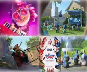 puzzel Verschillende foto's van Gnomeo en Juliet