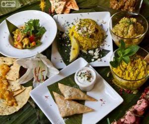 puzzel Verschillende internationale gerechten