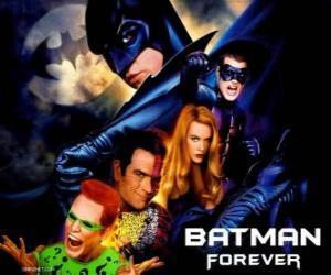 puzzel Verschillende karakters van Batman