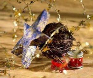 puzzel Verschillende Kerstmis Ornamenten