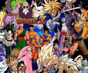 puzzel Verschillende personages uit Dragon Ball