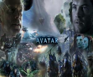 puzzel Verschillende personages van Avatar