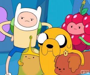 puzzel Verschillende personages uit AdventureTime